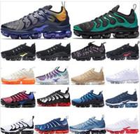 zapatos kd medio negro al por mayor-2019 TN Plus In Metallic Olive Mujer Hombre Hombre Running Diseñador Zapatos de lujo Zapatillas Zapatillas de deporte de la marca Zapatillas de deporte