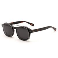 ingrosso occhiali da sole depp-Acetato di vetro ottici Telaio clip su occhiali da sole polarizzati obiettivo Johnny Depp Occhiali donne degli uomini di disegno di marca di qualità superiore Z085-2