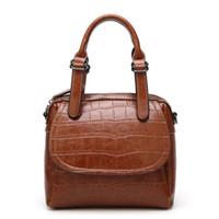 ingrosso olio di coccodrillo-Nuova borsa a tracolla da donna con tracolla in acciaio temperato, modello a coccodrillo