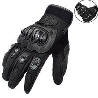 мото гоночные перчатки оптовых-Для карбоновых кожаных гоночных перчаток Мотоциклетные перчатки Езда на велосипеде Вождение велосипеда Велоспорт Мотоцикл Спортивные мото гоночные перчатки