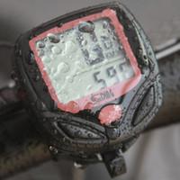 ordinateurs vélo achat en gros de-Vélo Électrique Vélo Ordinateur LCD Étanche LCD Numérique Etanche Compteur De Vélomètre