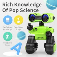 Wholesale charger robot for sale - Group buy R13 Early Education Robot Air Gesture Voice Control Tell Story Sound Record LED Lights Action Programming Xmas Kid Birthday Gift