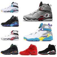 sevgililer günü mens toptan satış-nike air jordan retro Toptan 8 8 s Basketbol Ayakkabıları Aqua Krom Geri Sayım Paketi Sevgililer günü GÜNEY BEACH Erkek Eğitmen Spor Sneaker 7-13