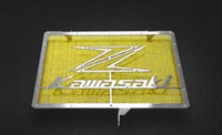 Wholesale motorcycle tank yellow for sale - Group buy Motorcycle Refit Water Coolant Reservoir Tank Guard Cover For Z1000 Yellow
