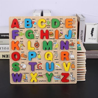holzspielzeug für kleinkinder groihandel-Wooden Puzzles Toddler Puzzles Alphabet Educational Toys Wooden Peg Puzzle for Toddlers Numbers, Letters Puzzle Educational Toys Kids Jigsaw