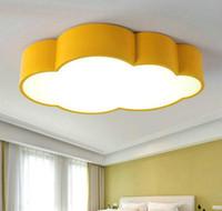 красная лампа для светильников оптовых-Led облако детская комната освещение дети потолочный светильник детские потолочный светильник с желтым синим красным белым для мальчиков девочек спальня светильники