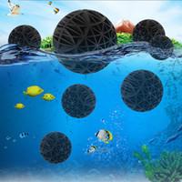 bio filtro de pecera al por mayor-50pcs / lot 16m del filtro del acuario bolas bio portátil húmedo de algodón seco para la bomba de aire del frasco limpio Fish Tank Pond Arrecifes Sponge Media