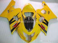 Wholesale yellow k5 fairing for sale - Group buy Top rate fairing kit for SUZUKI GSXR600 GSXR750 black yellow GSXR K4 K5 fairings FF33