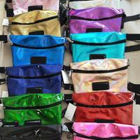 çapraz vücut çantaları çocuklar toptan satış-Moda Bel Paketi Tasarımcı Crossbody Çanta Çanta P Mektup Baskı Lazer Çocuklar Sikke çanta Kadın 12 Renk Butik Çanta Çanta CRWY4103
