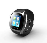 умные часы водонепроницаемые яблоко оптовых-Водонепроницаемый Smartwatch M26 Беспроводной BT Smart Watch со светодиодной подсветкой Alitmeter Музыкальный плеер Шагомер для Apple IOS