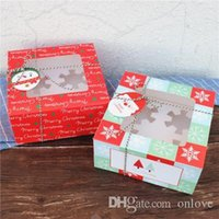 Wholesale christmas cake package for sale - Group buy Christmas cake box grain of glass packing box cupcake nougat chocolate gift packaging christmas decorations for home XD22446