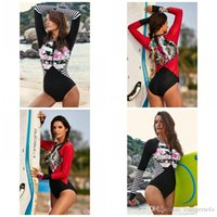 Wholesale ladies chest resale online - Hot Spring Triangle Conjoined Swimwear With A Chest Pad Flower Splicing Printing One Piece Suits Ladies Summer Bikini Set Fashion sy I1