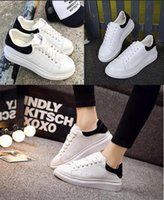 Wholesale mens comfortable brown shoes for sale - Group buy 2020 Mens Designer shoes white leather M reflective casual for girl women black gold red fashion comfortable flat sports sneaker size