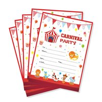 Wholesale circus party decorations for sale - Group buy Carnival Theme Kids Birthday Party Favors Carnival Circus Party Invitations Cards Cartoon Animals Invitation Decorations