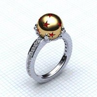 Wholesale clear finer ring resale online - stainless steel fashion dragon ball ring for men women clear CZ crystal stones ring sparkling star engraved dragon pearl ring fine jewelry