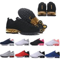 Wholesale knit fabric for sale - Group buy Newest Mens Shox Designer Shoes Gold Airs Cushion Men Shox Nz Basketball Shoes Chaussures Hombre Tn Men Knit Running Shoes Size