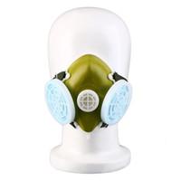 anti gaz maskeleri toptan satış-1 Adet Çift Solunum gaz Filtreleme buğu Metalik Dumanı Anti Toz Çift Sprey Kaynak Taşlama için bir baş giyimi kalemi boya maskesi