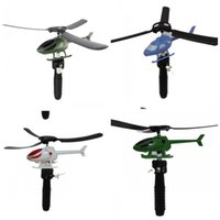 Wholesale toys for boys helicopter for sale - Group buy Kids Handle Pull Plane Model Toy Aviation Funny Cute Outdoor Toys Helicopter For Children High Quality Boy Gifts jh O1