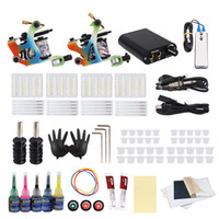 Wholesale tool coils kit for sale - Group buy Beginner Tattoo Kit Coil Tattoo Machines Gun Set Power Supply Body Art Tools Set Tattoo Permanent Makeup set for