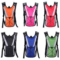 Wholesale sport backpack bicycle resale online - Hiking backpack colors Portable Outdoors Sports Bicycle Riding Hydration Packs Nylon Waterproof Water bag Both shoulder bag FJY755