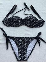 mulheres da itália sexy venda por atacado-Nova listagem Itália Designer de Luxo Carta Marca Biquíni 3 peça Mulheres Swimwear para Mulher Maiô Beach wear Verão Sexy Lady Swimsuit