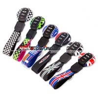 Wholesale key fob case protector for sale - Group buy Fit for MINI Cooper Genuine Car Key fob Cap Case Cover Protector Holder Union jack flag style