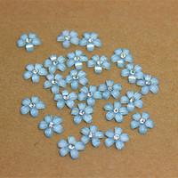 rhinestones azul resina flatback venda por atacado-Grátis 200pcs frete 10mm cores azuis resina flor com strass cabochão Flatback para Crafts DIY scrapbooking, No Buraco