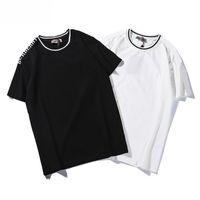 neue t-shirt design farbe männer großhandel-Designer Männer Frauen Marke T-Shirt Neue 2019 Sommer Schwarz und Weiß Luxus Design T-Shirt Marke Reine Farbe Mode Größe von S bis 2XL
