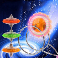 Wholesale magnetic spinning toy resale online - Magic LED Gyroscope Flash Toys Stall Selling Magnetic Spinning Top Track Yo Yo Toys For Children Gift Magic Spinning