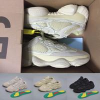 супер продажа кроссовки оптовых-Лучшая распродажа Wave Runner 500 Румяна Пустыня Крыса Супер Луна Желтые кроссовки Kanye West Дизайнерские Мужские Женщины Кроссовки Спортивная Обувь
