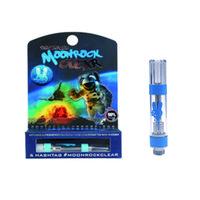 blaue tanks großhandel-Moonrock Clear Carts 1,0 ml G5 Vape Patronen Tank Keramikspule Dickes Öl Zerstäuber Moon Rock Blauer Ring Einpressspitzen Mit Verpackung