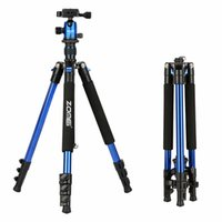 kamerastrecke großhandel-ZOMEI Q555 Professional Aluminium Stativkugelkopf Travel für Canon Nikon Kamera