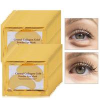 feuilles de masque achat en gros de-Gold Collagen Eye Mask Patchs pour les yeux pour les masques faciaux Dark Circle Puffiness Eye Bags