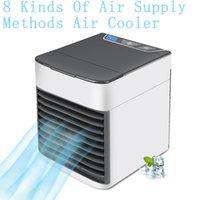 refrigeradores elétricos venda por atacado-Os ventiladores elétricos do pulverizador de ar dos refrigeradores de ar três em uns refrigeradores do verão 8 estilos caracterizam 7 cores L-4
