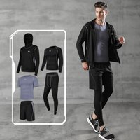 Wholesale-Fitness Clothing Gym Wear Men Tracksuit Sport Homme Running Shorts Jogging Suits Yoga Set Compression Workout Clothes Sportswear