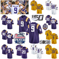 Wholesale odell beckham jr college jersey resale online - LSU Tigers Jerseys Joe Burreaux Jersey Burrow Clyde Edwards Helaire Odell Beckham Jr Leonard Fournette College Football Jerseys Custom