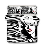 Wholesale marilyn monroe bedding for sale - Group buy 3D Marilyn Monroe Bedding Set Duvet Cover Pillowcase
