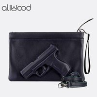 ingrosso sacchetto di pistola 3d-Borsa della pistola della pistola della stampa 3D Borsa delle borse della catena della borsa delle donne di marca Borsa della frizione del progettista delle signore frizioni della busta della borsa del crossbody Bolsas