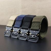 nylon schnellspanner großhandel-Outdoor 3,8 CM Schnellverschluss Gürtel Quick Dry Sicherheitsgurt Training Reinem Nylon Taktische Gürtel Legierung Schnalle Bund ZZA700