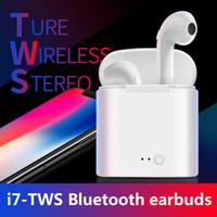 écouteurs bluetooth achat en gros de-Écouteurs sans fil Bluetooth écouteurs i7 i7s tws not air pas Musique stéréo Écouteurs pour iPhone X Android HUAWEI xiaomi pods headset