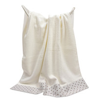 toallas de playa teñidas con hilo al por mayor-Beige 100% algodón toalla de baño para adultos Dot Yarn Dye Dobby Toallas de playa Sofá grueso Absorbente Casa Hotel Toallas de baño