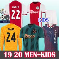 erkek minibüsü toptan satış-ERKEKLER + ÇOCUKLAR 19 20 Tadic Hollanda Ajax Forması Cruyff Schone Neres Ziyech de Jong 2019 2020 voetbal gömlek van de Beek 95 Ajax Retro Formaları