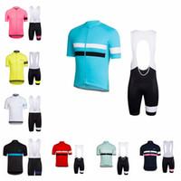 roupas de rapha venda por atacado-equipe Rapha Ciclismo manga curta bermuda camisa jardineiras define Femininos Verão confortável Wearable Windproof Outdoor Sports Jersey Set S61252