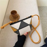 saco de design especial venda por atacado-Fantasy Special Design Football Handbags For Women Geometric Triangle Patchwork 2 color Hobos PU Leather Messenger Shoulder Bags