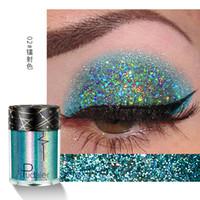 saç şimmerleri toptan satış-Pudaier Yüz Vücut Saç Göz Glitter Pigmentler Fosforlu Gevşek Pırıltılı Toz Glitter Makyaj Parlak Flaş TSLM1