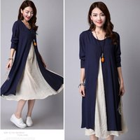 Wholesale maternity clothes for sale - Group buy Two piece Linen Dress Maternity Dresses Pregnant Skirt Maternity Clothes For Pregnant Women Pregnancy Clothing Vestdios