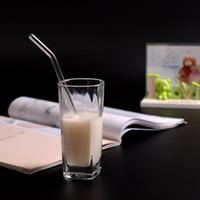 einfrieren glas großhandel-Mehrweg-Glastrinkhalme mit Gratis-Reinigungsbürste Gerade und gebogene Smoothie-Trinkhalme für Milchshakes Gefrorene Getränke Smoothies Bubble Tea