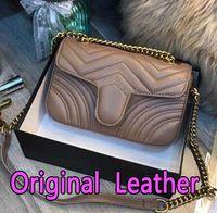 ingrosso cerniera di lusso-gucci marmont 2019 vendita calda donne designer borse di lusso crossbody messenger borse a tracolla catena borsa di buona qualità borse in pelle pu borsa delle signore