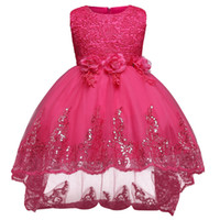 Wholesale teenagers girl dresses for sale - Girls Princess Dress Bow Girl Dress Summer Tutu Wedding Birthday Party Dresses For Girls Costume Teenager Prom Designs Dresses