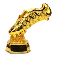 botas de resina al por mayor-Zapatos de campeón de la Resina de fútbol de Resina de oro Zapatos El mejor jugador Trofeo Copa Fans Recuerdos Coleccionables Liga de Fútbol Golden Boot MVP Shooter